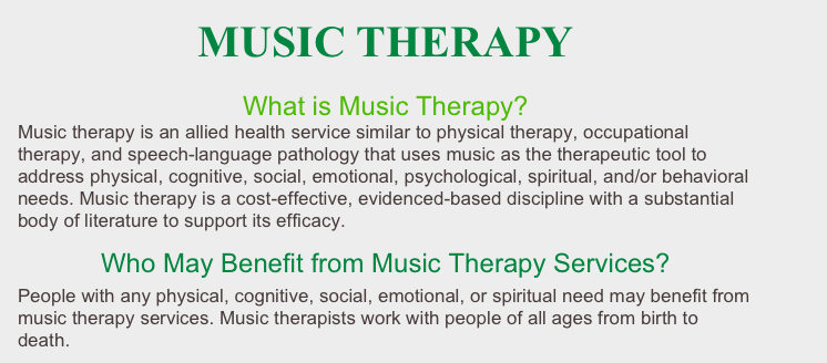 research paper on music therapy Effects of group music therapy on psychiatric patients: depression, anxiety and relationships a research paper submitted to the graduate school.