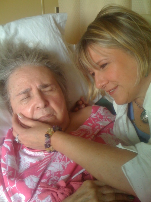 Lori La Bey with her Mother Dorothy who has Alzheimer's disease