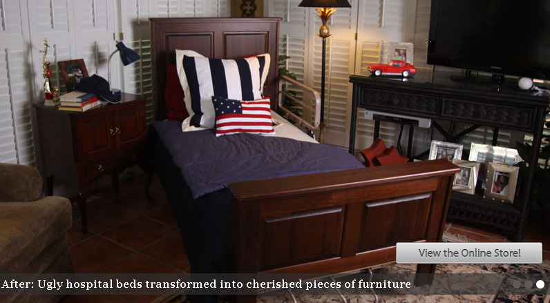 Make Hospital Beds Beautiful  Slip covers for head and footboards