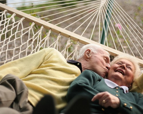 older couple on hammock