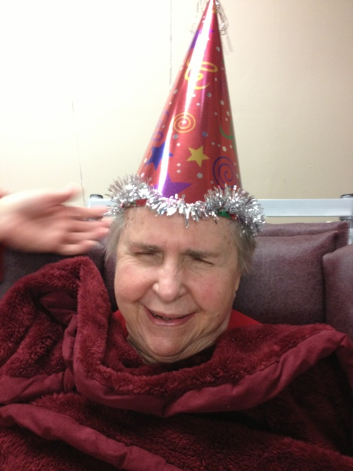 great on of grandma laughing w hat on