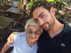 motor bike Emanuel and grandmother