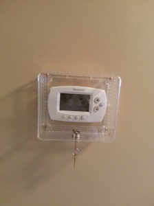 Memory Care Home solutions 2 locked thermostat