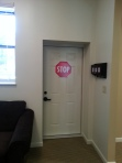 Memory Care home solutions 9 stop sign on door