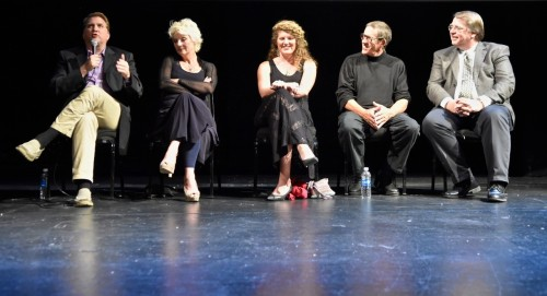 Actors on stage Daniel Ellen Kristi Bob Scott